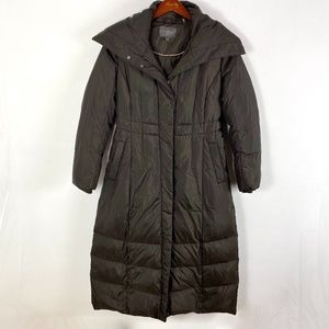 Cole Haan long puffer coat brown size L women's